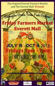 Everett Mall Friday Market Poster