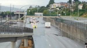 Everett, WA street flooding