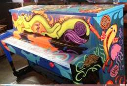 Intertwined piano in Everett, WA