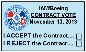 Machinist Ballot for contract extension