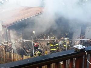Everett garage fire
