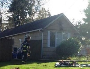 Everett, WA attic fire
