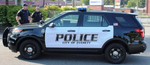 New Everett Police SUV side view