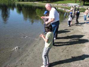 Kids Fish In