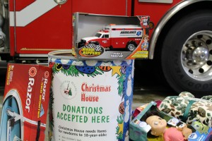 Firefighter toy drive