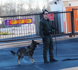 The K-9 was unable to locate the suspect.
