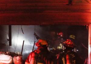 smokey garage fire