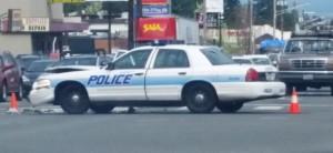 police car crash