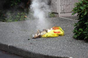 burning bag