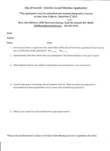 city council application