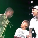 Moment a child will never forget..Dancing on stage with Chris Brown, Tyga & Kevin Hart.