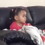 Sad: Little girl cries over Mufasa (The Lion King).