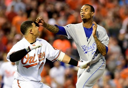 After Getting Hit By A 99 MPH Fastball Manny Machado Punches Yordana Ventura