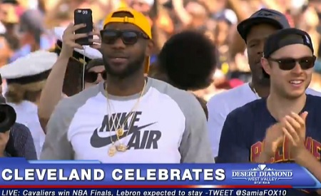 LeBron James Emotional Speech At The Victory Celebration in Cleveland!