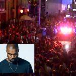 Crazy: Vandals Attack After Kanye West's Show Gets Cancelled.