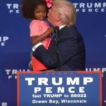 Trump Plant's A Kiss On A Lil Black Girl..Wonder if he wants to date her in 10 years?