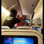 Crazy Fist Fight Between 2 Passengers Erupt On Flight.