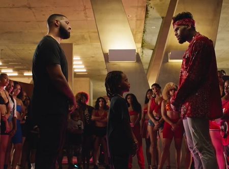 """Chris Brown and Drake gets into a dance battle settle the score in the highly-anticipated video for their hit single """"No Guidance."""" Watch below"""