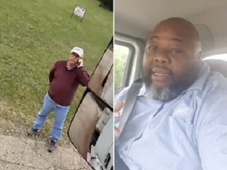 Man Blocks Black Delivery Driver in an Oklahoma Neighborhood