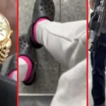 Police harass black man because he has on a Nice Watch and Crocs.