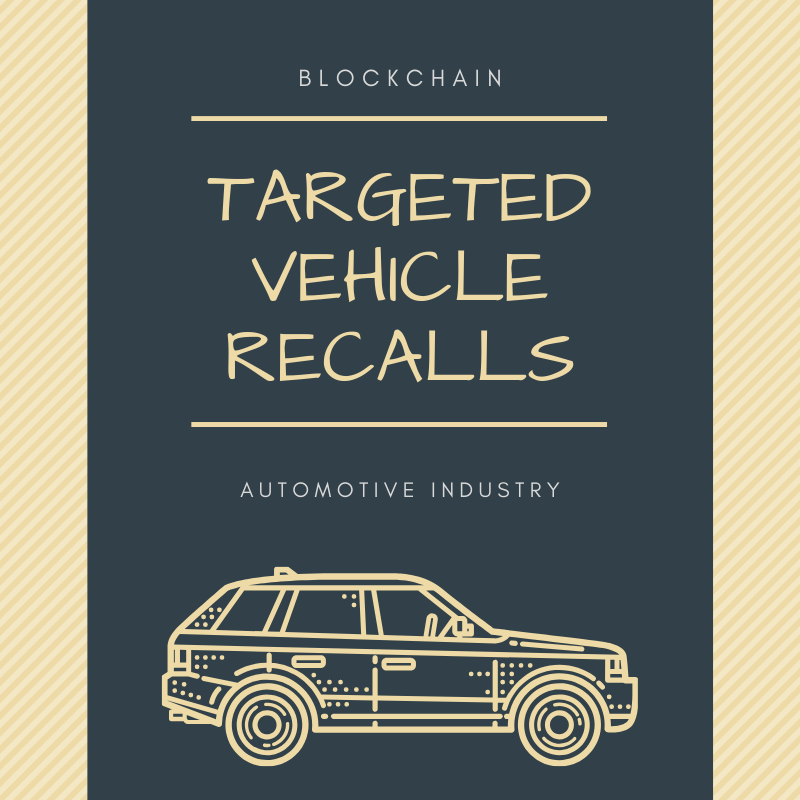 Targeted Vehicle Recalls Using Blockchain