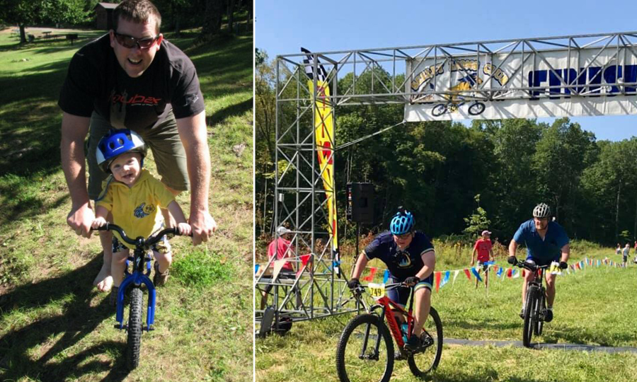 father and son finish the Chequamegon 40