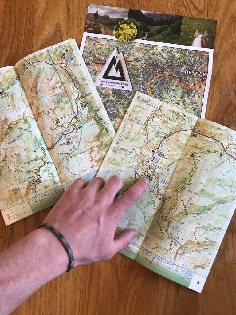 Planning a bike packing route.