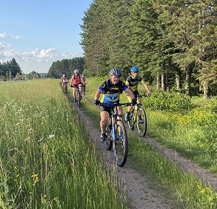 Mountain bike group returns to the shop