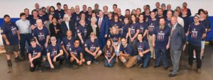 Hub Labels Family Poses with Governor Hogan