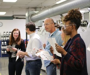 Lean Peer Group Label Manufacturing Tour