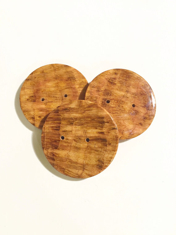 Wood Buttons handcrafted by Harry Firth and Al Firth for HeartFelt Silks