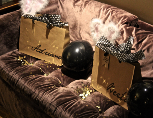 Two Bachelorette Kits located in the couch of the suite