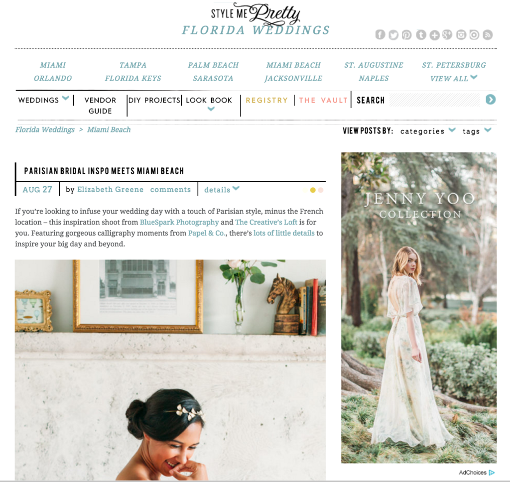http://www.stylemepretty.com/florida-weddings/miami-beach/2016/08/27/chic-parisian-bridal-styled-shoot-in-the-middle-of-the-tropics/