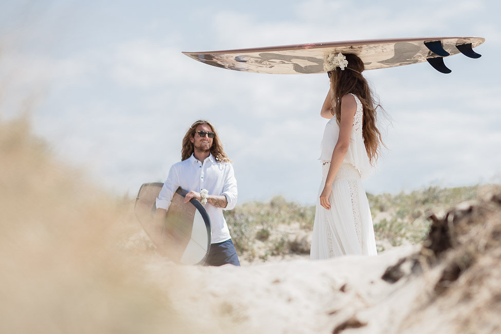 Boho Surfing Wedding at Les Landes Miami Wedding Planner The Creatives Loft and International Wedding Photographers Vasver Studio