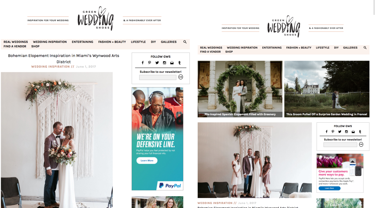 Featured on Green Wedding Shoes with our Bohemian Industrial Wedding in Wynwood The Creatives loft miami wedding planner nyc wedding planner