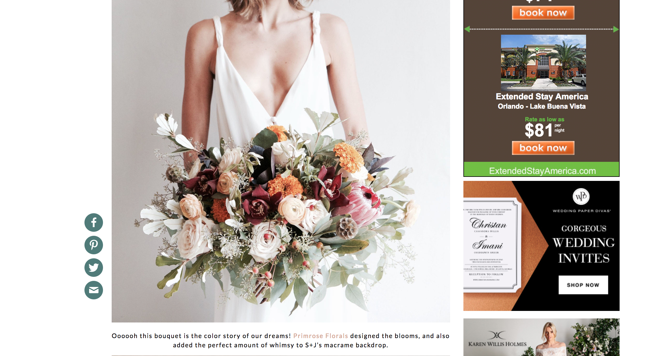 Featured on Green Wedding Shoes with our Bohemian Industrial Wedding in Wynwood