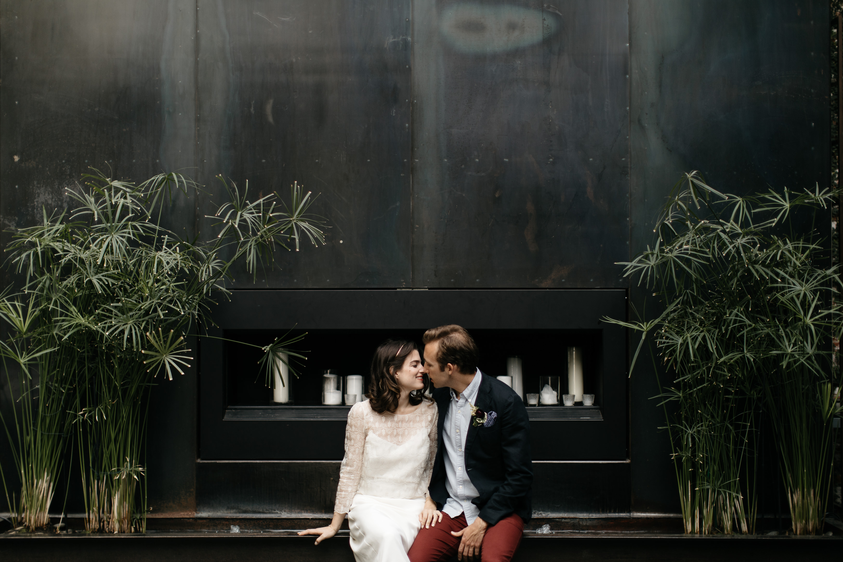 A romantic Industrial Elopement Wedding at The Foundry The Creatives Loft Wedding Planning Jean Laurent Gaudy Wedding Photographer