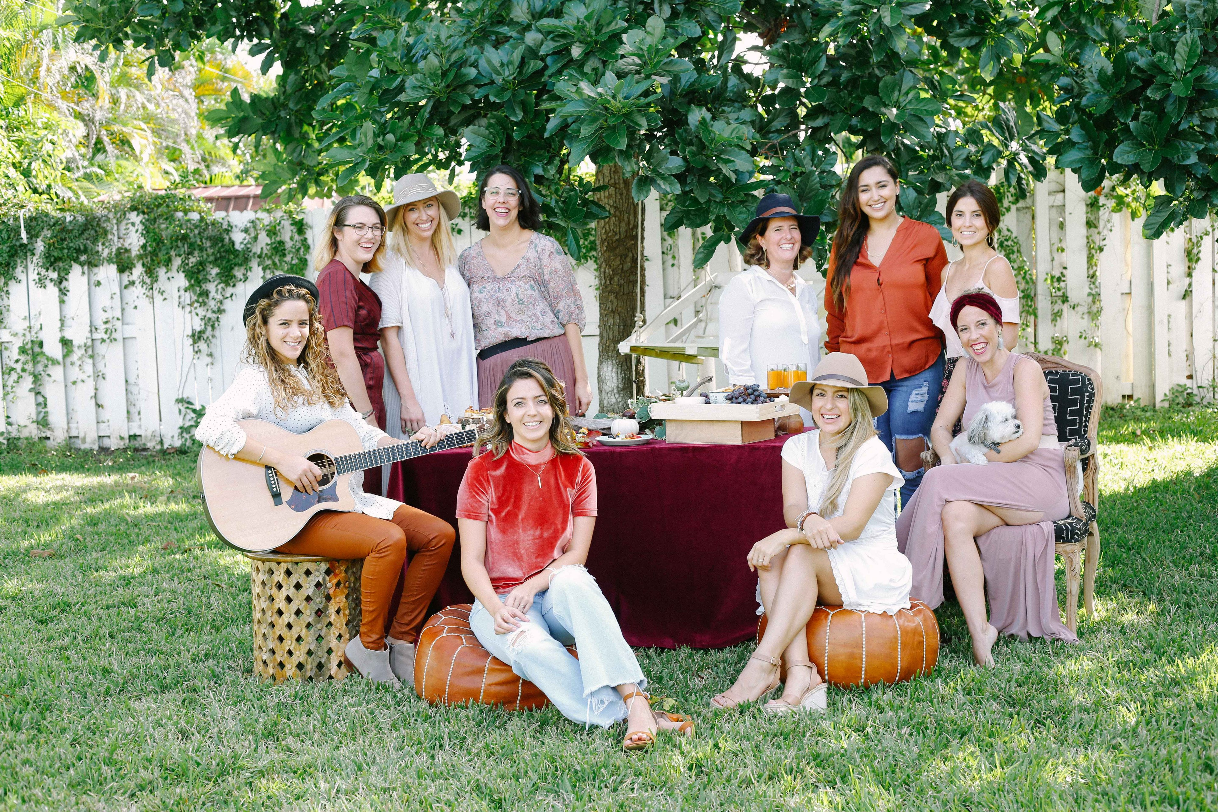 Friendsgiving with Leading Wedding Industry Ladies of South Florida The Creatives Loft Wedding Event Planning Studio