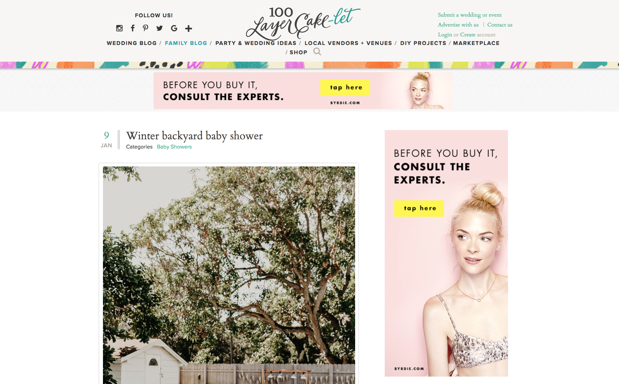 Featured on 100 Layer Cakelet our 4 in 1 Party The Creatives Loft Event and Wedding Planning Studio Miami and NYC