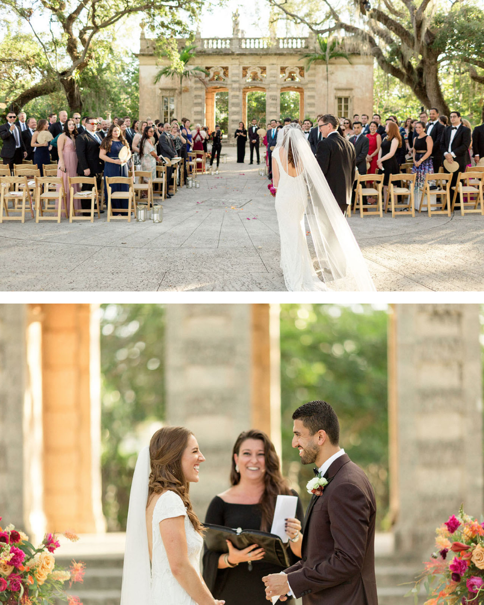 Featured on Green Wedding Shoes our Tropical Vizcaya Museum Wedding