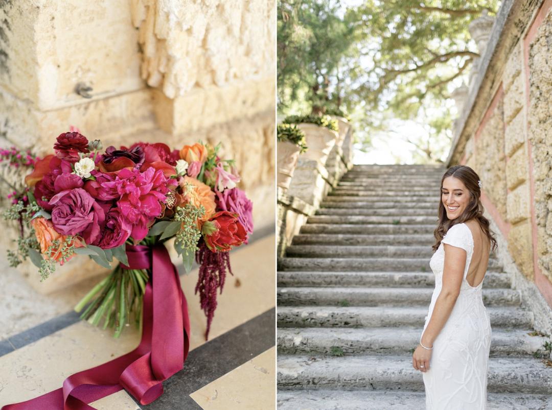 A unique Vizcaya Museum Wedding in Miami The Creatives Loft Weddings Miami Bride's Bouquet