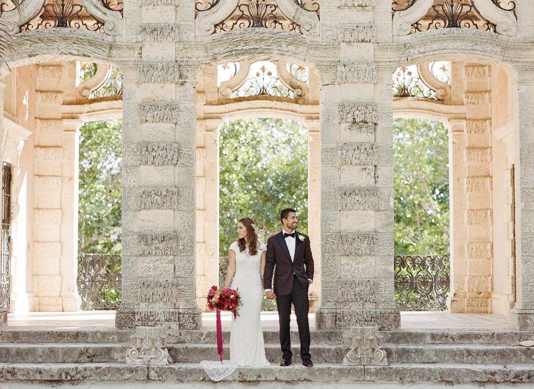 A unique Vizcaya Museum Wedding in Miami The Creatives Loft Weddings Miami Couple at the Garden Mount