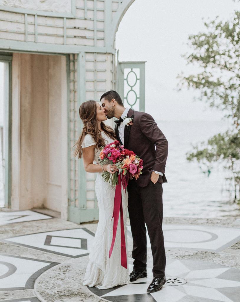 A unique Vizcaya Museum Wedding in Miami The Creatives Loft Weddings Miami Couple posing together