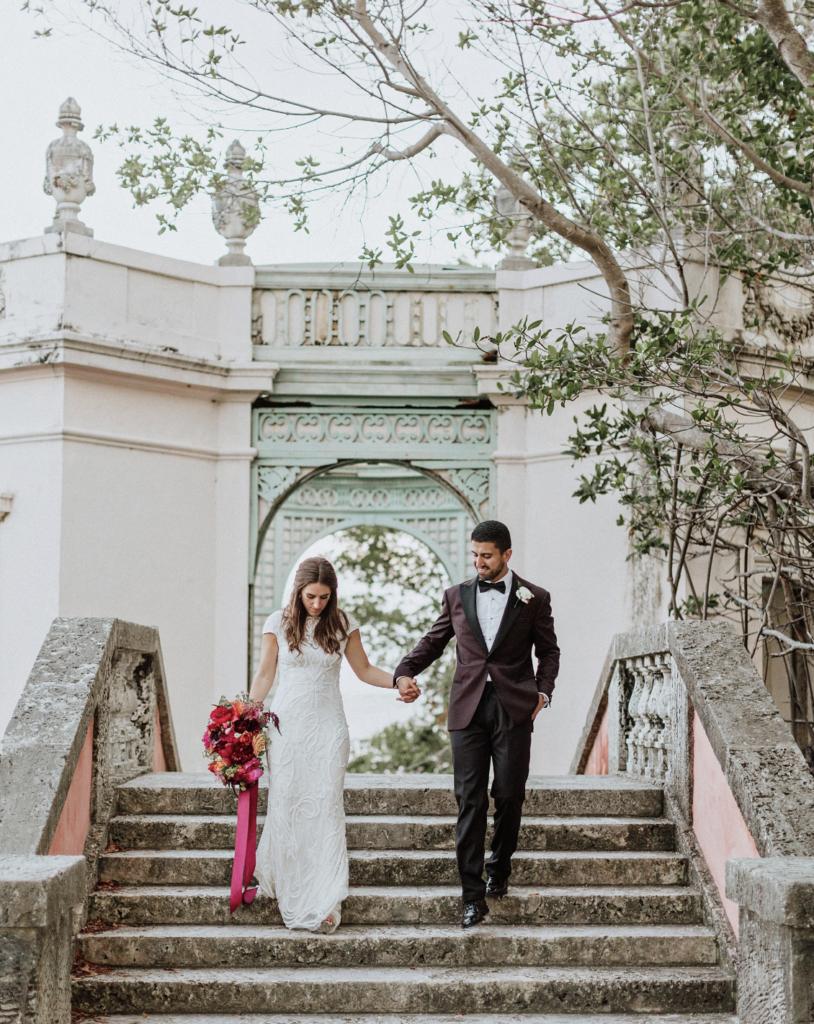 A unique Vizcaya Museum Wedding in Miami The Creatives Loft Weddings Miami Couple Portrait