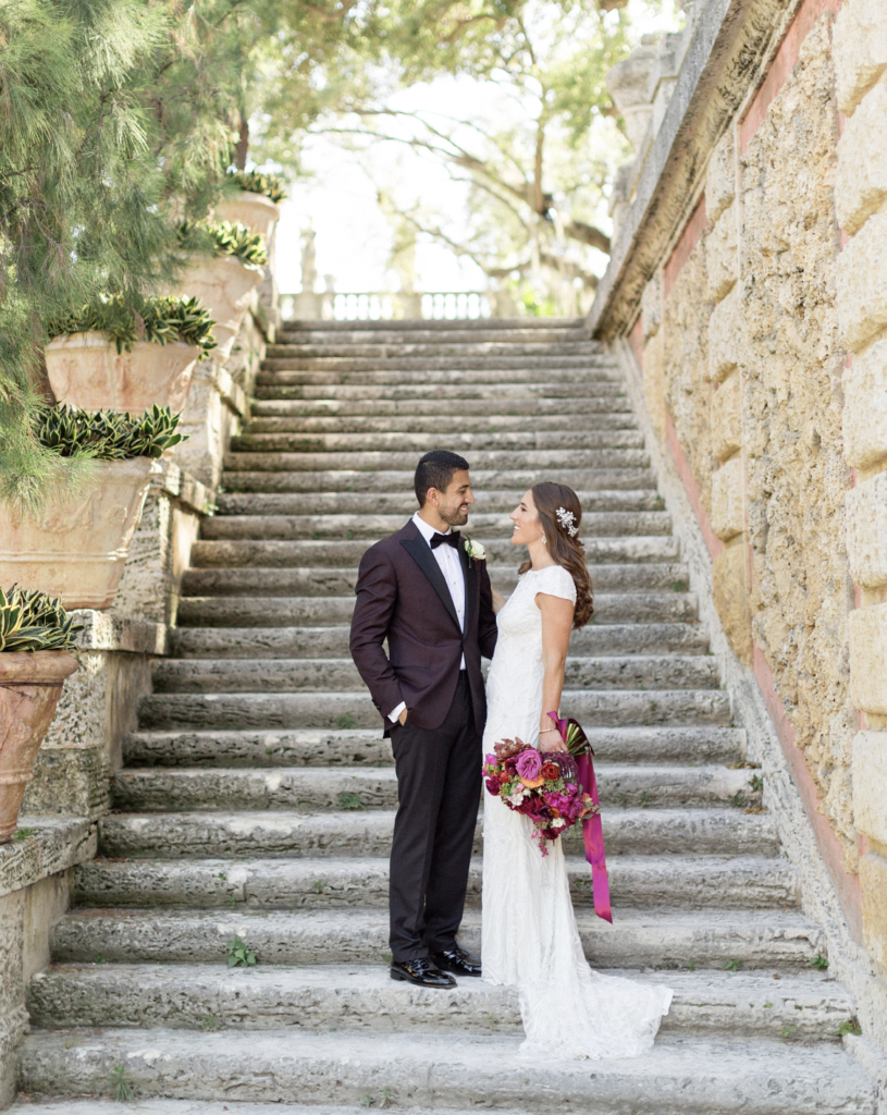 A unique Vizcaya Museum Wedding in Miami The Creatives Loft Weddings Miami couple after getting married