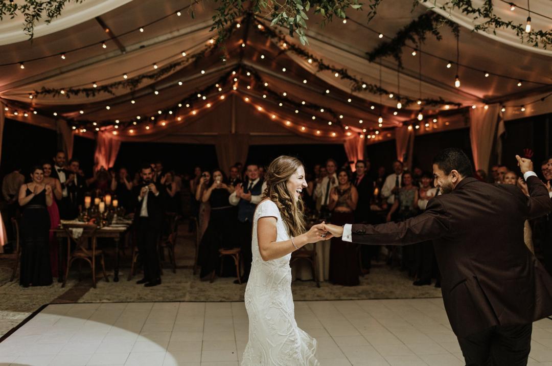 A unique Vizcaya Museum Wedding in Miami The Creatives Loft Weddings Miami bride and groom dancing