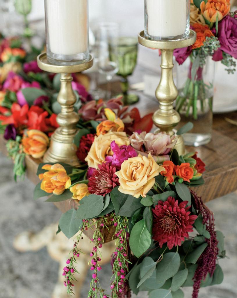 A unique Vizcaya Museum Wedding in Miami The Creatives Loft Weddings Miami Wedding Table Floral Details