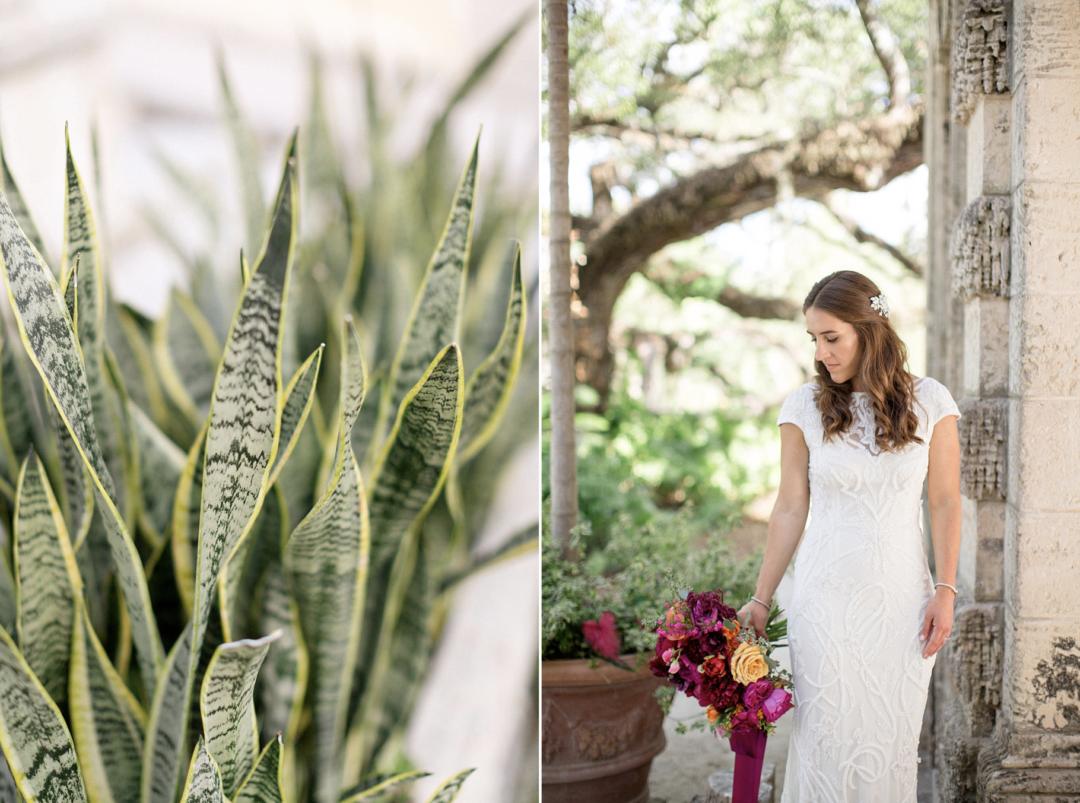 A unique Vizcaya Museum Wedding in Miami The Creatives Loft Weddings Miami Bride with bouquet
