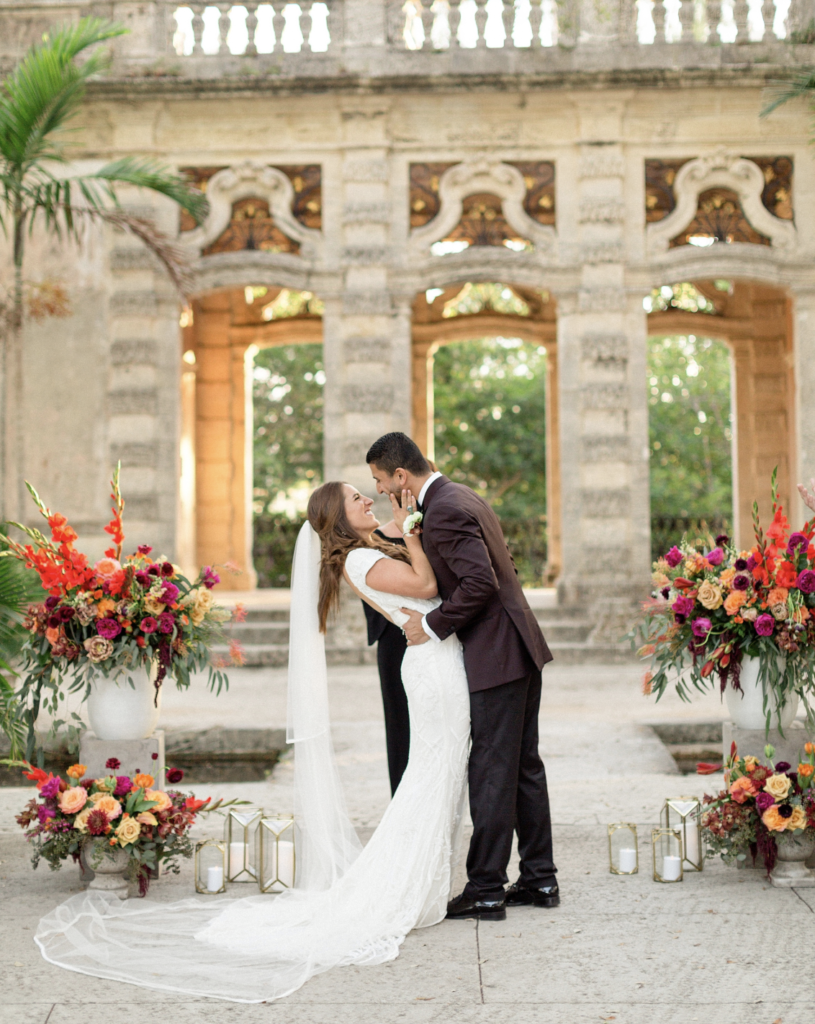 A unique Vizcaya Museum Wedding in Miami The Creatives Loft Weddings Miami Just Married at Garden Mount