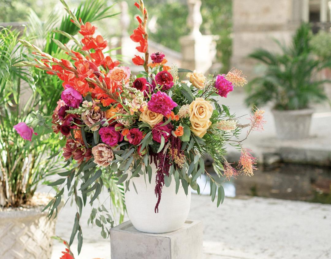 A unique Vizcaya Museum Wedding in Miami The Creatives Loft Weddings Miami Ceremony Floral Details
